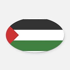800px-Palestinian_flag.svg.png Oval Car Magnet