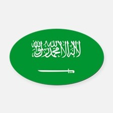 750px-Flag_of_Saudi_Arabia.svg.png Oval Car Magnet