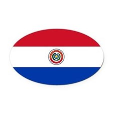 Paraguay.ng.png Oval Car Magnet