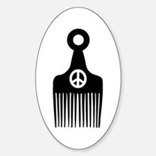 Afro Hair Peace Decal