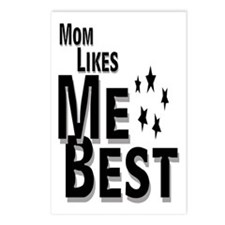 Mom Likes Me Best Postcards (Package of 8)