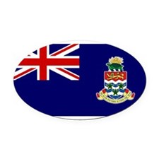 the_Cayman_Islands.png Oval Car Magnet