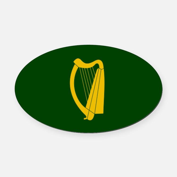 Irish Flag 2.png Oval Car Magnet