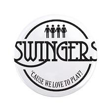 """Swingers Logo 3.5"""" Button"""