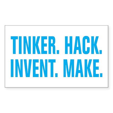 Tinker Hack Invent Make Sticker (Rectangle)