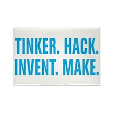 Tinker Hack Invent Make Rectangle Magnet