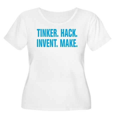 Tinker Hack Invent Make Women's Plus Size Scoop Ne