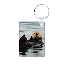 Alaskan Sea Otters Keychains