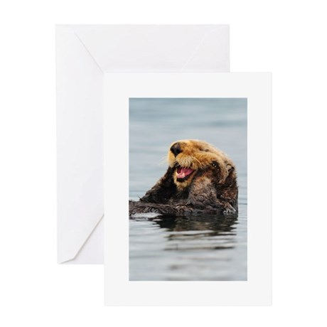 Alaskan Sea Otters Greeting Card