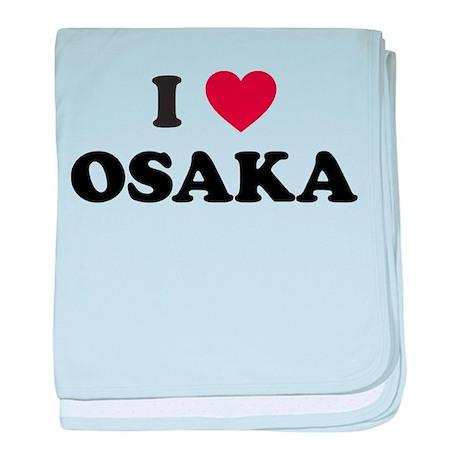 I Love Osaka baby blanket