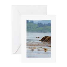 Alaskan Sea Otters Greeting Card