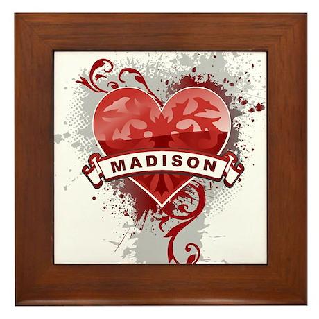 Love Madison Framed Tile