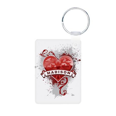 Love Madison Aluminum Photo Keychain