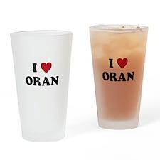 I Love Oran Drinking Glass