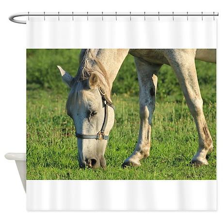 horse shower curtain by rodneyswildlifeandmore