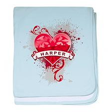 Love Harper baby blanket