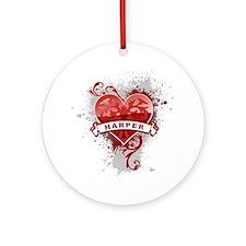 Love Harper Ornament (Round)