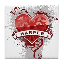 Love Harper Tile Coaster