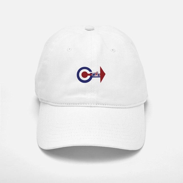 Retro Mod Target and scooter Arrows Baseball Baseball Cap