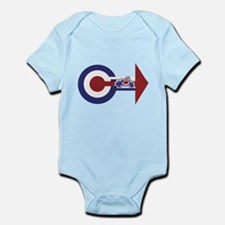 Retro Mod Target and scooter Arrows Infant Bodysui