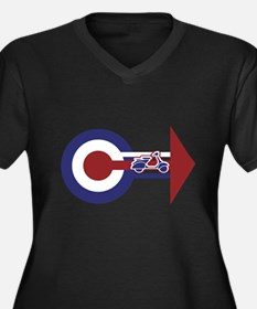 Retro Mod Target and scooter Arrows Women's Plus S