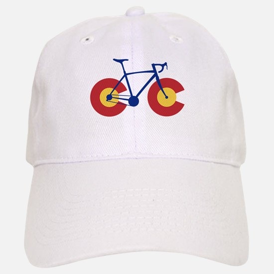 Colorado Flag Bicycle Baseball Baseball Cap