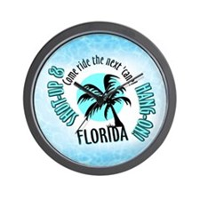 FLORIDA Come Ride the Hurrica Wall Clock