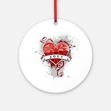 Love Zoey Ornament (Round)