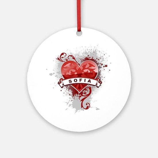 Love Sofia Ornament (Round)