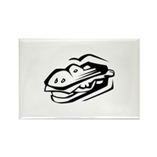 Burger Rectangle Magnet