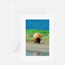 Alaskan Brown Bear Greeting Card
