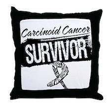 Survivor - Carcinoid Cancer Throw Pillow