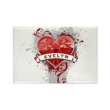 Love Evelyn Rectangle Magnet