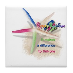It Makes a Difference Tile Coaster