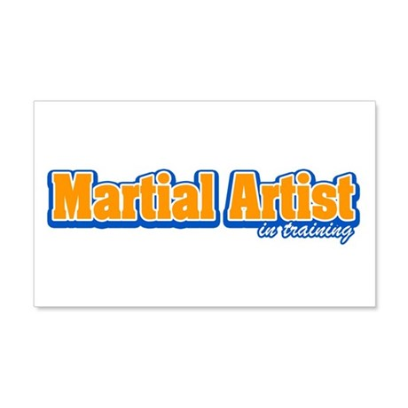 Martial Artist in Training 20x12 Wall Decal