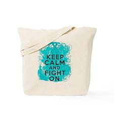 Peritoneal Cancer Keep Calm Fight On Tote Bag