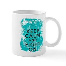 Peritoneal Cancer Keep Calm Fight On Mug