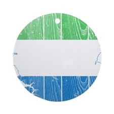 Sierra Leone Flag And Map Ornament (Round)