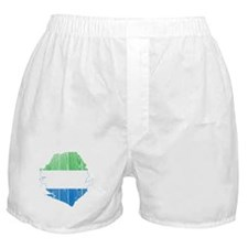 Sierra Leone Flag And Map Boxer Shorts