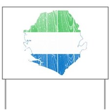 Sierra Leone Flag And Map Yard Sign