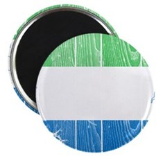 "Sierra Leone Flag And Map 2.25"" Magnet (100 pack)"