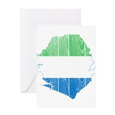 Sierra Leone Flag And Map Greeting Card