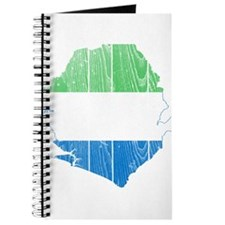 Sierra Leone Flag And Map Journal