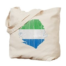 Sierra Leone Flag And Map Tote Bag