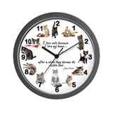 Cat wall clock Office