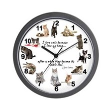 WALL CLOCK - Cat Lovers