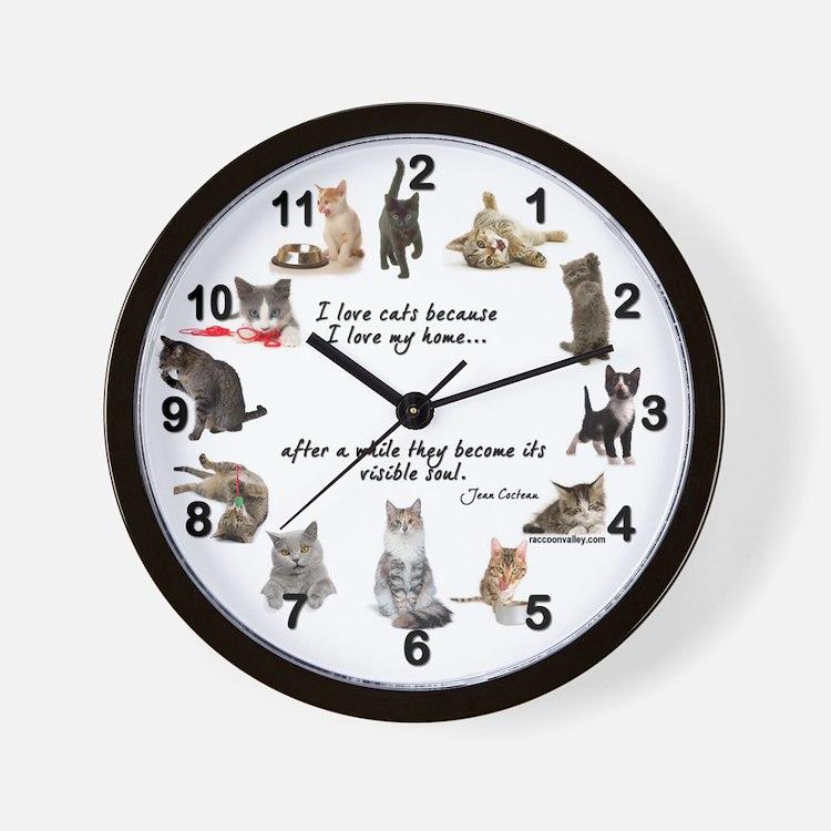 WALL CLOCK - Cat Lovers