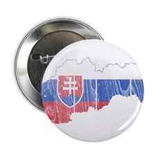 "Slovakia Flag And Map 2.25"" Button"
