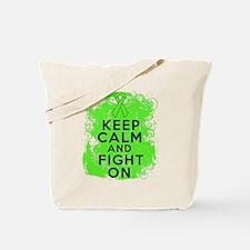 Non-Hodgkins Lymphoma Keep Calm Fight On Tote Bag