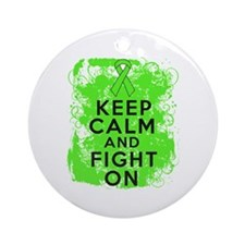 Non-Hodgkins Lymphoma Keep Calm Fight On Ornament